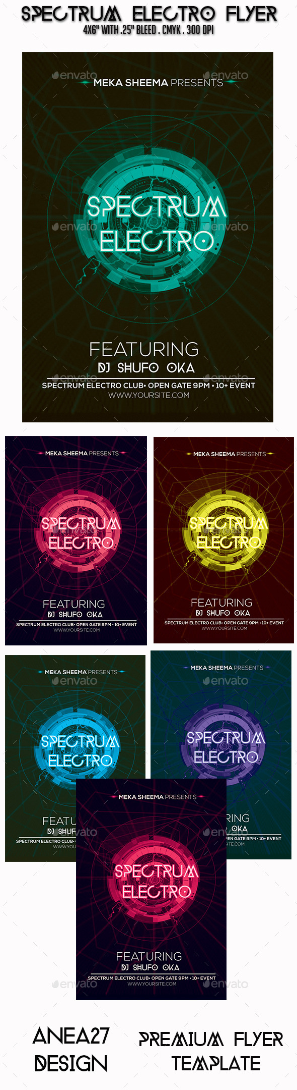 GraphicRiver Spectrum Electro Flyer 9554249