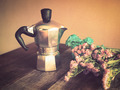 Italian coffee maker and flower - PhotoDune Item for Sale