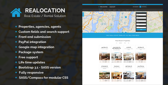 Realocation - Modern Real Estate WordPress Theme - Banner