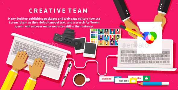 GraphicRiver Creative Team Working at a Desk 9382507