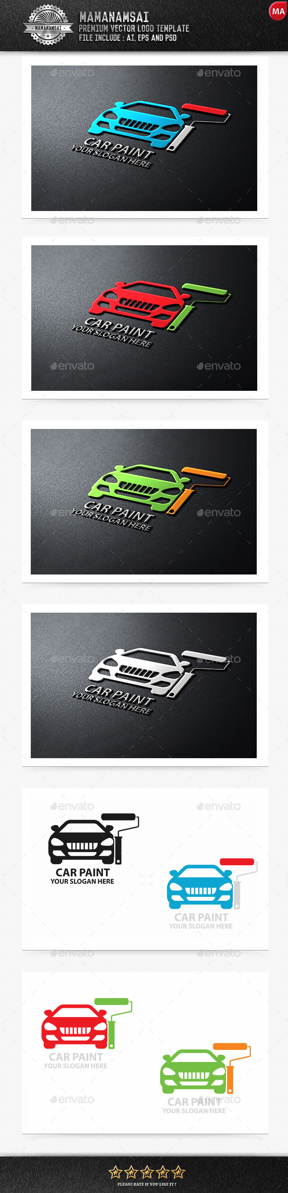 GraphicRiver Car Paint Logo 9554638