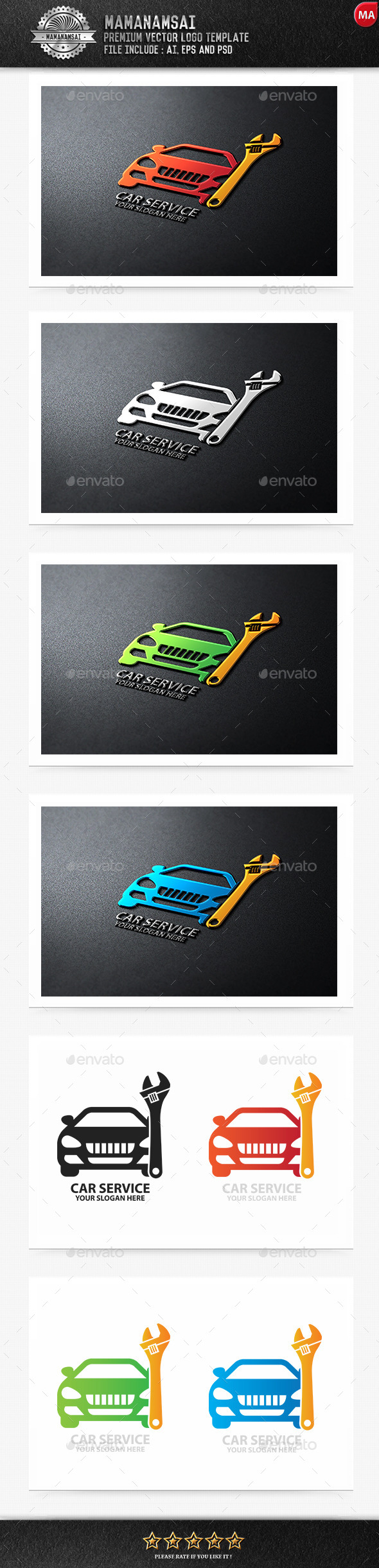 GraphicRiver Car Service Logo 9554675