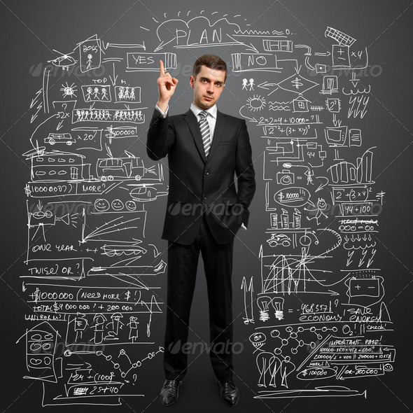 male in suit - Stock Photo - Images