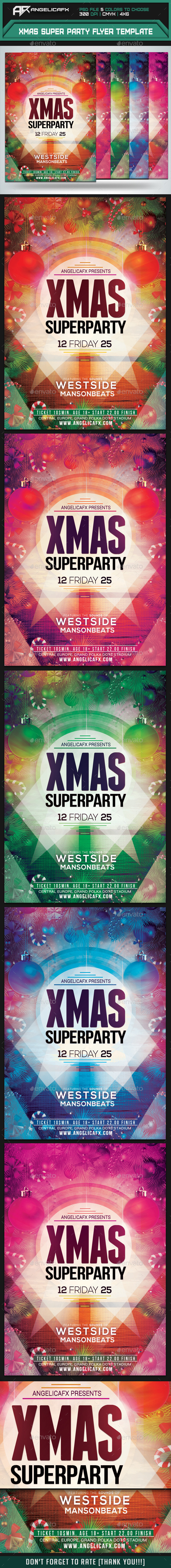 GraphicRiver Xmas Super Party Flyer Template 9554765