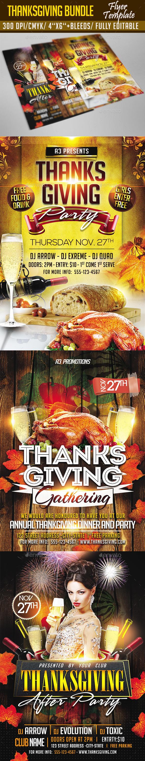 Thanksgiving Flyer Bundle