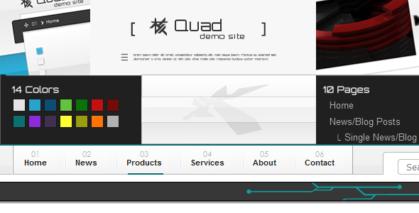 Quad xHTML Template NewsBlog and Product Catalogue - Preview Image