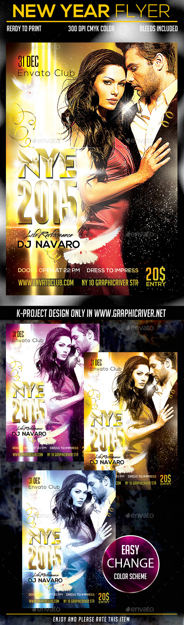 GraphicRiver New Year Party Flyer 9554999