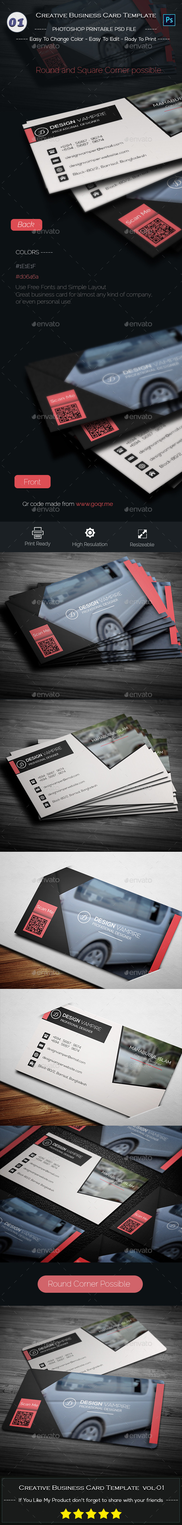 GraphicRiver Creative Business Card Template 9555093