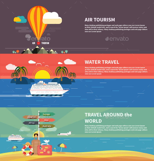 GraphicRiver Traveling and Planning Summer Vacation 9465450