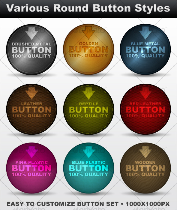 Various Round Button Styles