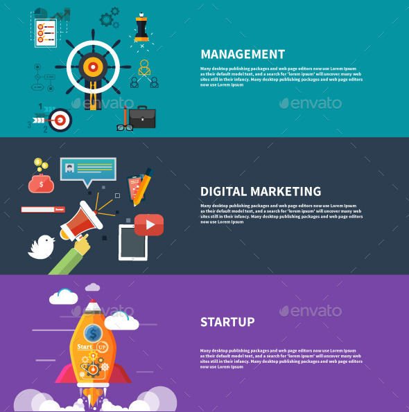 GraphicRiver Management Digital Marketing Srartup Planning 9466133