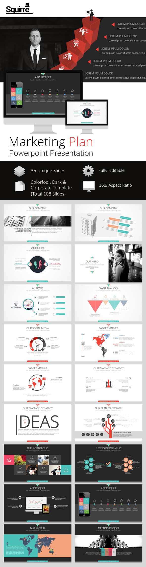 GraphicRiver Marketing Plan Powerpoint Presentation 9513379