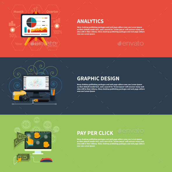 GraphicRiver Icons for Analytics Graphic and Pay Per Click 9466143
