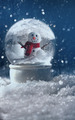 Snow globe in a snowy winter scene - PhotoDune Item for Sale