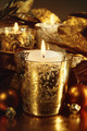 Candles lit with a sparkling gold theme - PhotoDune Item for Sale