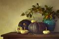 Fall pumpkins and gourds on table - PhotoDune Item for Sale