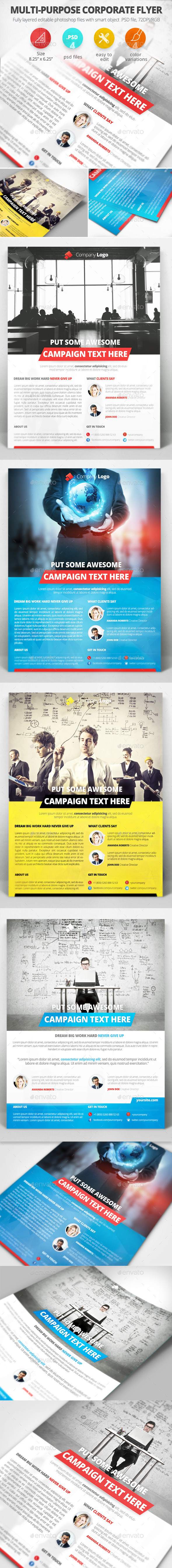 GraphicRiver Multi-purpose Corporate Flyer 9513572