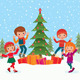 Children Celebrate Christmas - GraphicRiver Item for Sale