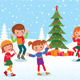 Children Celebrate Christmas and New Year - GraphicRiver Item for Sale
