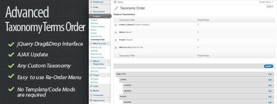 CodeCanyon Advanced Taxonomy Terms Order 971496