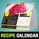 Elegant Recipes 2015 Desk Calendar Template - GraphicRiver Item for Sale