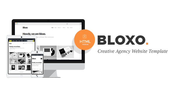 Bloxo Minimal Freelancer Agency HTML5 Template
