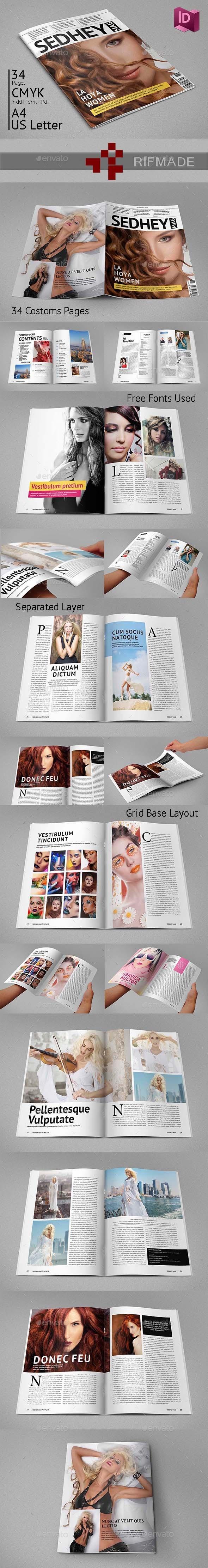 GraphicRiver Indesign Magazine Template 9557652
