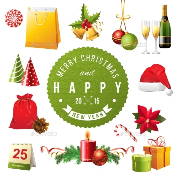 GraphicRiver Christmas Design Elements 9557662