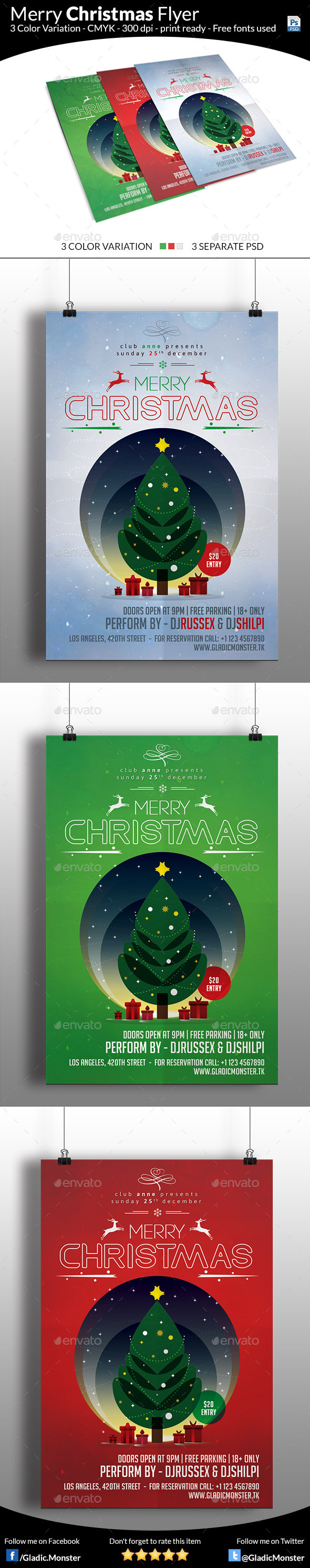 GraphicRiver Minimal Christmas Flyer 9557676