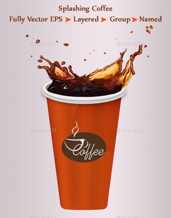GraphicRiver Splashing Coffee 9557953