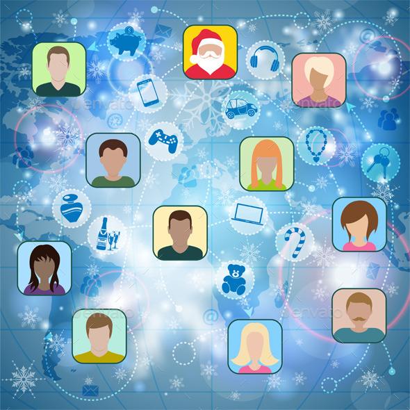 GraphicRiver Christmas Social Network 9558053