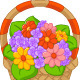 Flowers in a Basket - GraphicRiver Item for Sale