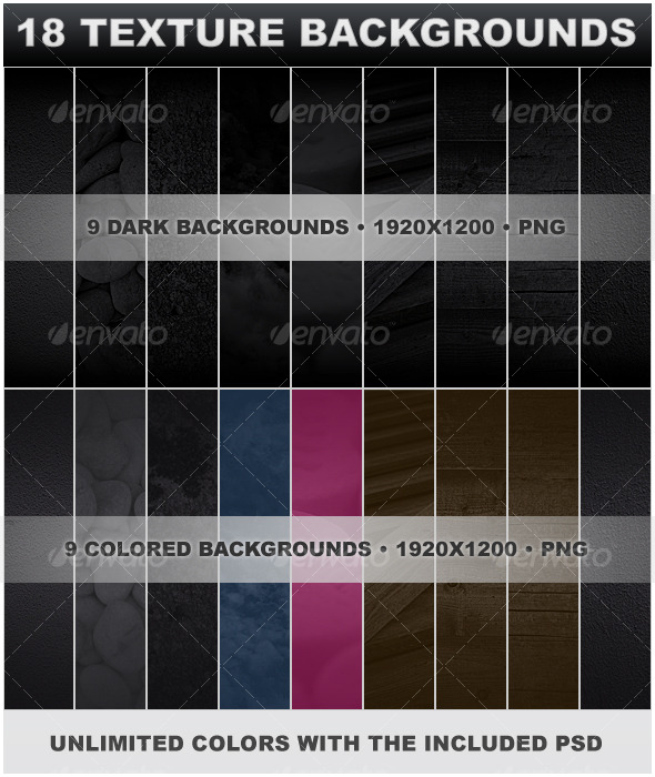 18 Texture Backgrounds - Miscellaneous Textures