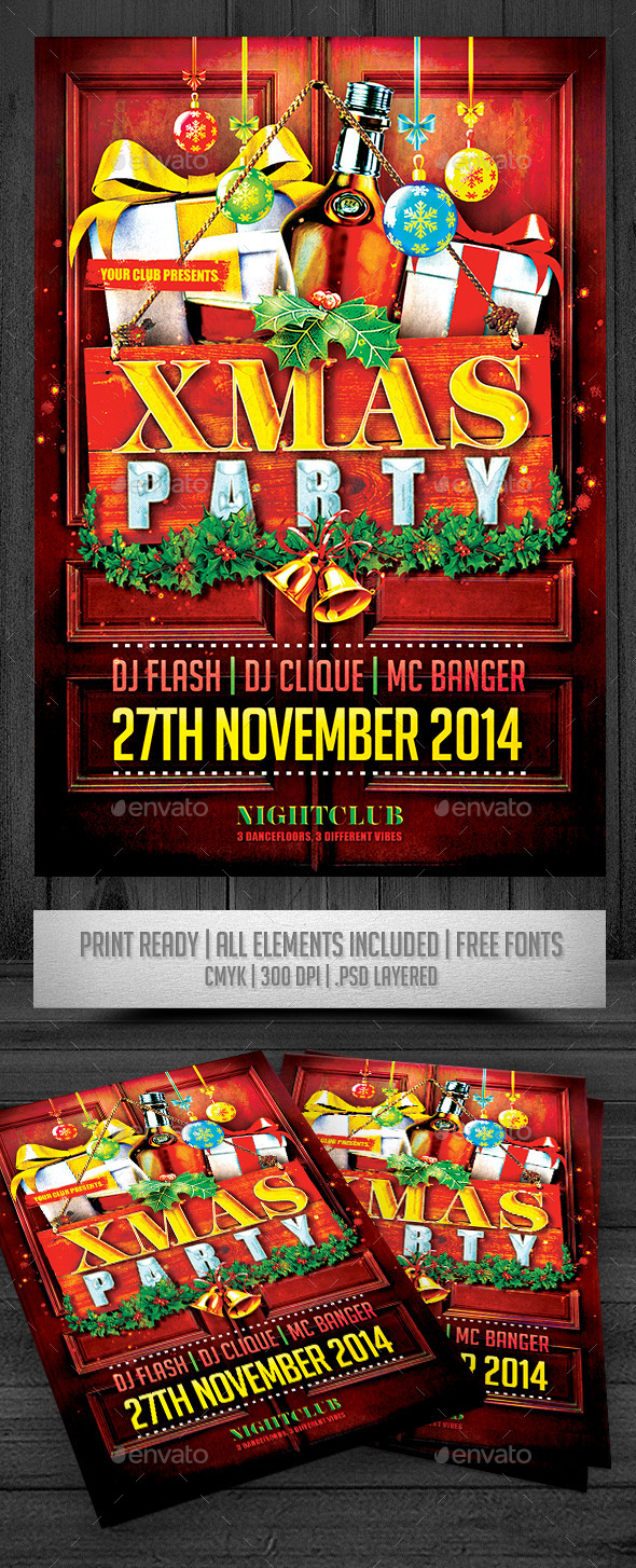 GraphicRiver XMAS Party Flyer 9558643