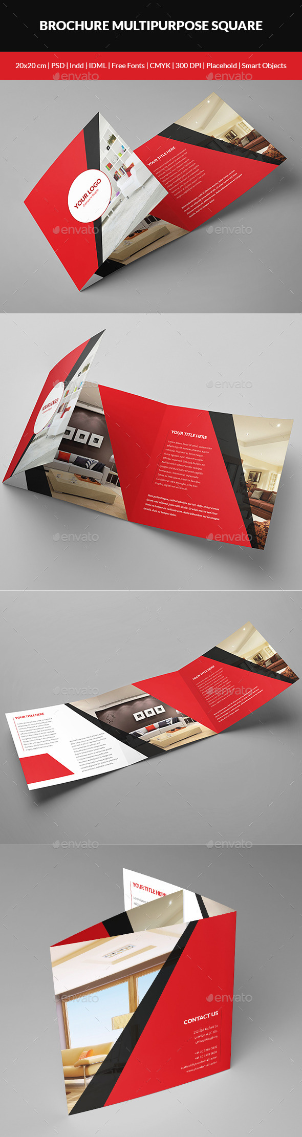 GraphicRiver Brochure Multipurpose Square 9558767