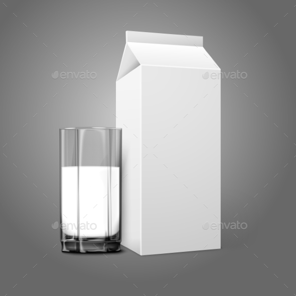 GraphicRiver Blank Package with Milk Glass 9558832