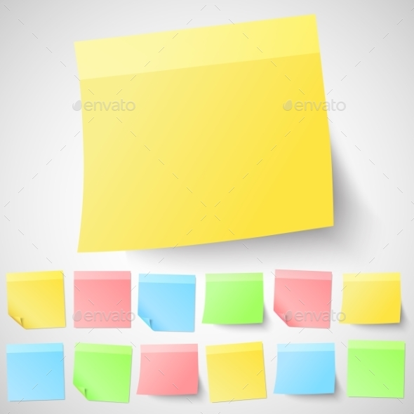 GraphicRiver Adhesive Sticky Notes 9558859