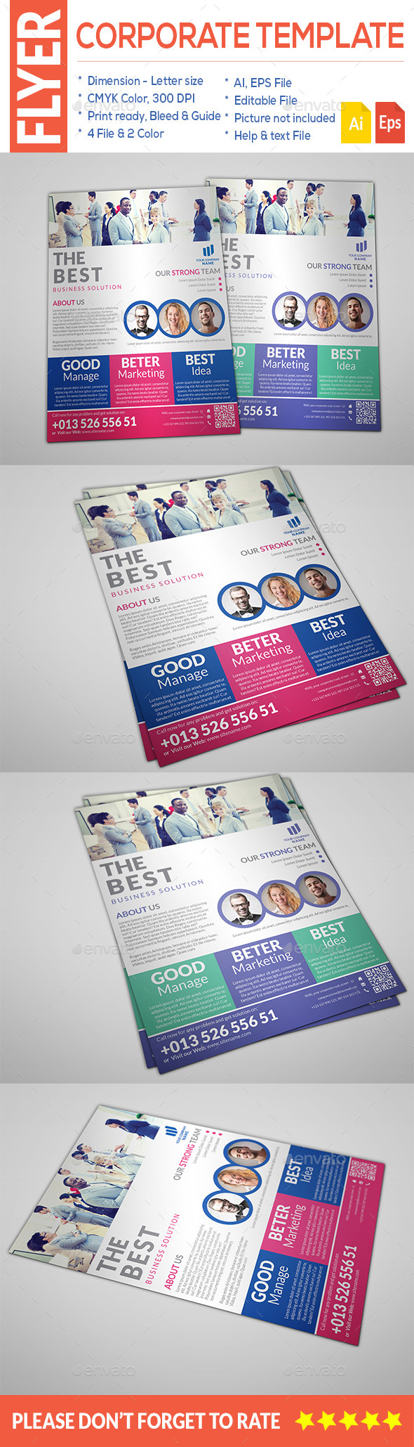 GraphicRiver Minimal Corporate Flyer 9559042