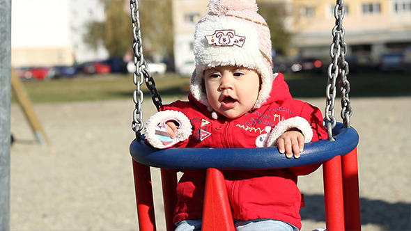 Baby in a Swing