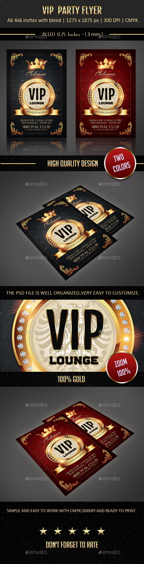 GraphicRiver Vip Party Flyer 9559088