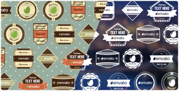 Retro Hipster Labels Pack