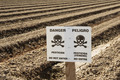 Danger Pesticide Sign In Field - PhotoDune Item for Sale
