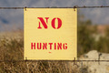 No Hunting Sign - PhotoDune Item for Sale