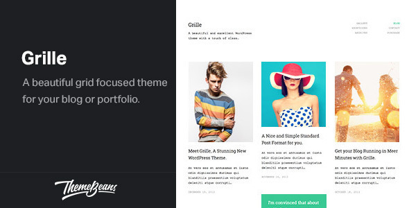 Grille - Responsive WordPress Portfolio & Blog Theme - Creative WordPress