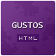 "Gustos - The complete UI for a ""recipe website"" - Food Retail"