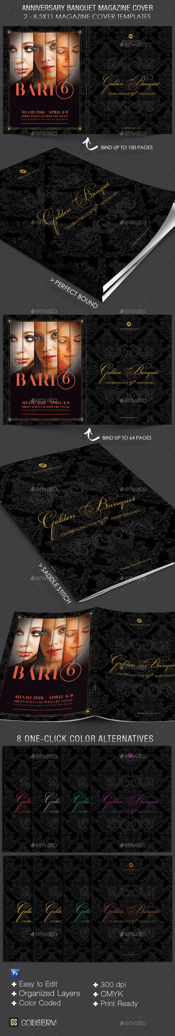 GraphicRiver Anniversary Banquet Magazine Cover Template 9560633