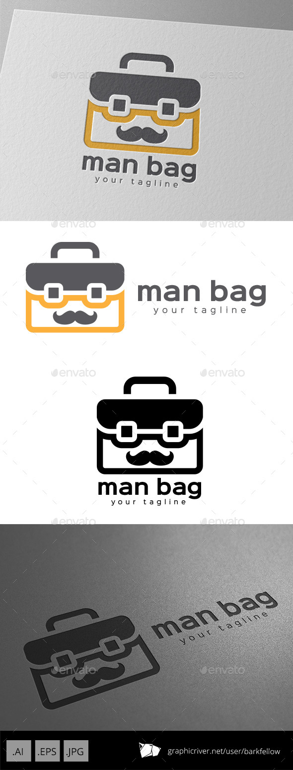 GraphicRiver Business Travel Bag Logo 9560648
