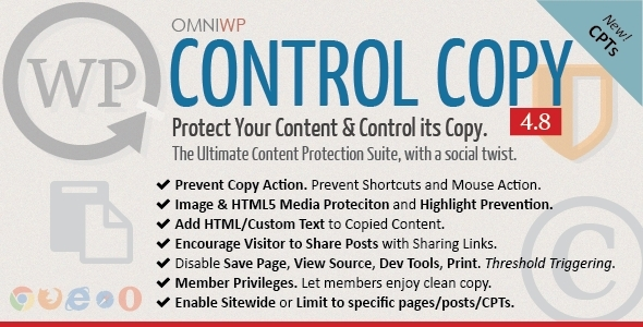 WP Control Copy - Protect Content & Serve Copy - CodeCanyon Item for Sale