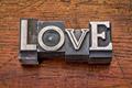 love word in metal type - PhotoDune Item for Sale