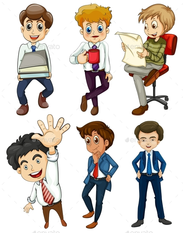GraphicRiver Six Businessmen 9561346
